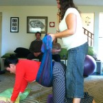 Learning how to use a rebozo in labor